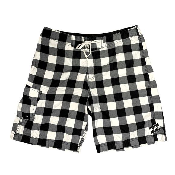 Billabong Black White Check Board-shorts